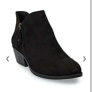 Women's black ankle booties size 7